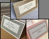 RESERVED for cateyez33168 - Glitter Place Cards