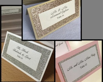 Glitter Place Cards - Any Color