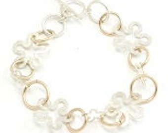 bracelet  925 sterling silver and Goldfield Loops