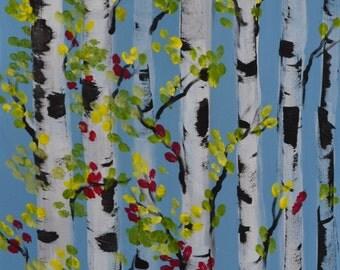 ASPEN FOREST-16 x 20 Acrylic on canvas