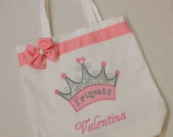 Personalized Tote Bag, Personalized Tote, Crown Tote Bag, Princess Tote, Princess Crown Gift, Personalized Crown, Personalized Princess