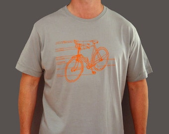 Exploded bike diagram T shirt, gifts for cyclists, cycling gift, bike, brother gift, light grey, dad gift, brother in law, teenager