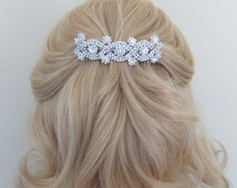 Silver Bridal Hair Comb,Rhinestone Wedding Hair Comb,Bridal Hair Accessories,Wedding Accessories,Decorative Hair Comb #C40