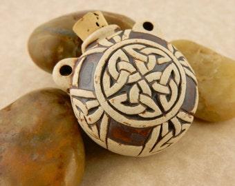 Celtic Knot Alchemist Raku Style Potion Bottle for  Oil, Potions & Incense Powders