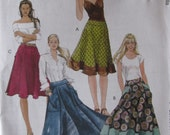 McCalls M5431 Uncut Sewing Pattern Misses Easy Sew Flared Skirt With Yoke, Size 14-16-18-20 Plus Size, 2007