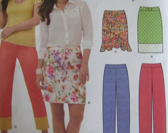 New Look 6155 Misses Womens Sewing Pattern Skirts Pants Size 8-18 Plus Size