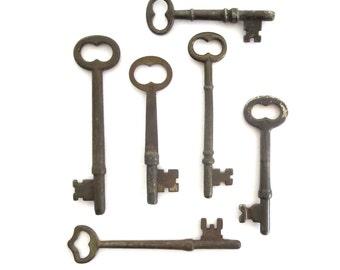 6 Vintage skeleton keys Real keys Antique skeleton keys Old skeleton keys Skelton Vintage keys Antique key collection Old bit keys, #2