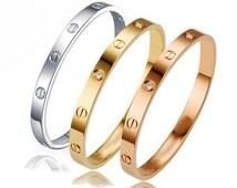 Luxury gold plated fashion bracelet