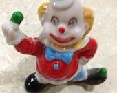 Ceramic clown figurine