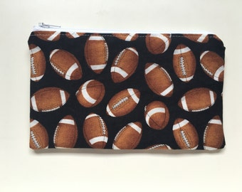 Snack Bag, Zippered Snack Bag Boy, Food Bag Zipper Bag, Essential Oil Bag - Football