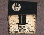 Halloween, Gothic Cards, Skeleton, Halloween Cards, Happy Haunting, Skull