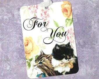 Tags, Kittens, Gift Tags, Kitten Tags, For You, Cat Lover, Party Favors