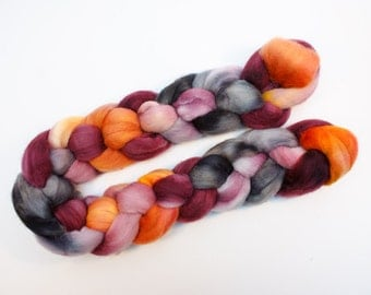 The Gloaming - Hand Dyed Organic Polwarth Top 4oz