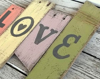 Summer Decor 2016, Reclaimed Love Sign, Bohemian Wedding Decor, Pallet Wood Sign, Rustic Wedding Decor, Reclaimed Reception, Rustic Chic