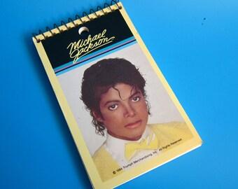 1984 Michael Jackson Notepad Notebook 80s Triumph Merchandising retro pop music thriller 1980s school
