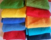 Reserved for Joanne Merino Wool prefelts: 10 colours for Wet Felting or Needle Felting