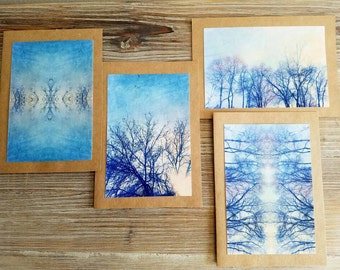 The Winter Trees Collection Notecard Set