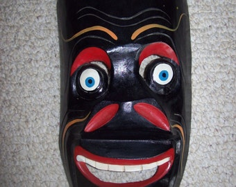 SALE Hand Carved Wooden Mexican Folk Art Mask Collectible Home Decor Was 32.00