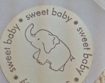 Elephant Sticker Seals Sweet Baby Elephant..Baby Girl Baby Boy Pink Blue.....Set of 12