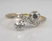 "Antique ""Forever"" Diamond Ring - Old European Cut Diamonds"