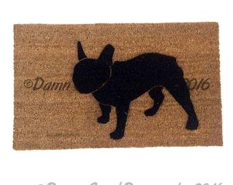 "French Bulldog ""Frenchie"" dog door mat"
