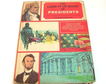 The Look It Up Book of Presidents, Vintage Childrens Book