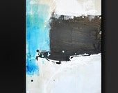New Horizons - 40 x 16 - Abstract Acrylic Painting - Fine Art Contemporary Modern