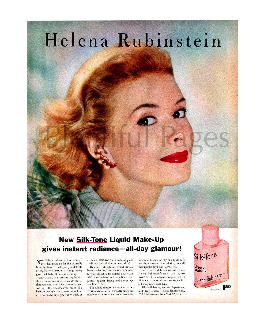 1957 helena rubinstein liquid make up vintage ad. Black Bedroom Furniture Sets. Home Design Ideas