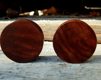 """28.25mm Madrone burl wood ear plugs, 1 1/8"""" hand crafted gauges"""