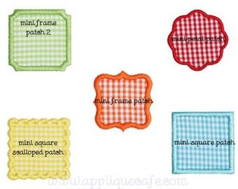 390 Mini Frame Patch Set Machine Embroidery Applique Design