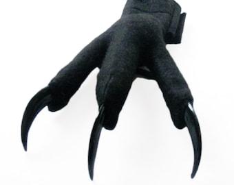 Black Feet with Talons. Dragon, Bat, Creature Claws. Three Sizes.