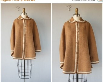 25% OFF SALE... Vintage 1960s Cape | 60s Cape | Alpaca Wool Cape | Vintage Alpaca Sweater | Wool Cape