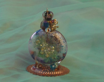 Love Spell, Spell Bottle, Home Decor, Pagan Art, Altered Bottle