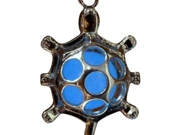 yOUR unIQue MAgic bABy tuRTle Blue glow in the dark necklace