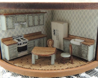 Dollhouse miniature 144th scale kitchen kit