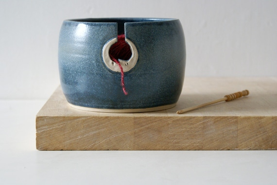 SHIPPING JANUARY - The sun and moon hand thrown custom pottery yarn bowl