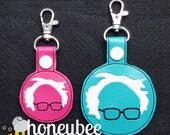 Feel it? The Bern! Bernie Sanders keychain key fob snap tab. diaper bag, purse. support political candidate Republican & Democrat keys.