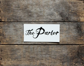 The Parlor Vinyl Sticker, band sticker, car sticker, original music, indie + art-pop + dance, bumper sticker