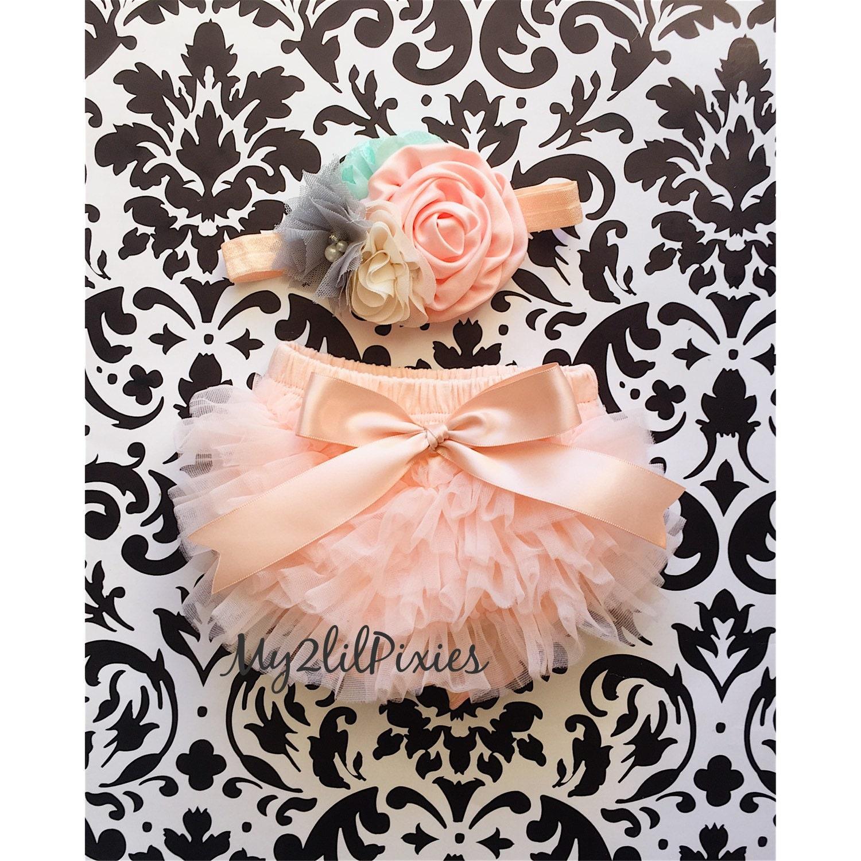 140074b27 Bloomers Pattern Peach Newborn Ruffle Bloomer