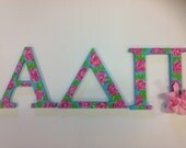 A D Pi Greek letters, sorority letters, big, little, sorority gift