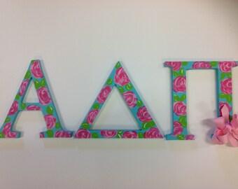 A D Pi Greek letters, sorority letters, big, little, sorority gift
