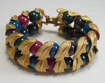 Vintage Fruit & Leaves Bracelet  Multi Color