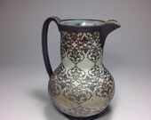 """Pitcher with Cortina floral pattern  10.5""""tall"""