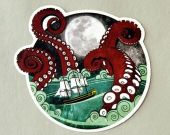 Limited Edition Vinyl Kraken Attack Sticker