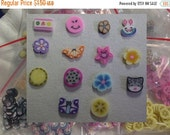 50% OFF - IN JUNE - 140 pcs Polymer Clay Slices