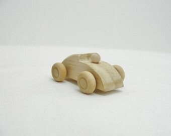 Small wooden race car DIY paint your own