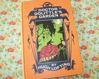 SALE - Doctor Doolittle's Garden, hardbound book, 1950s, Hugh Lofting