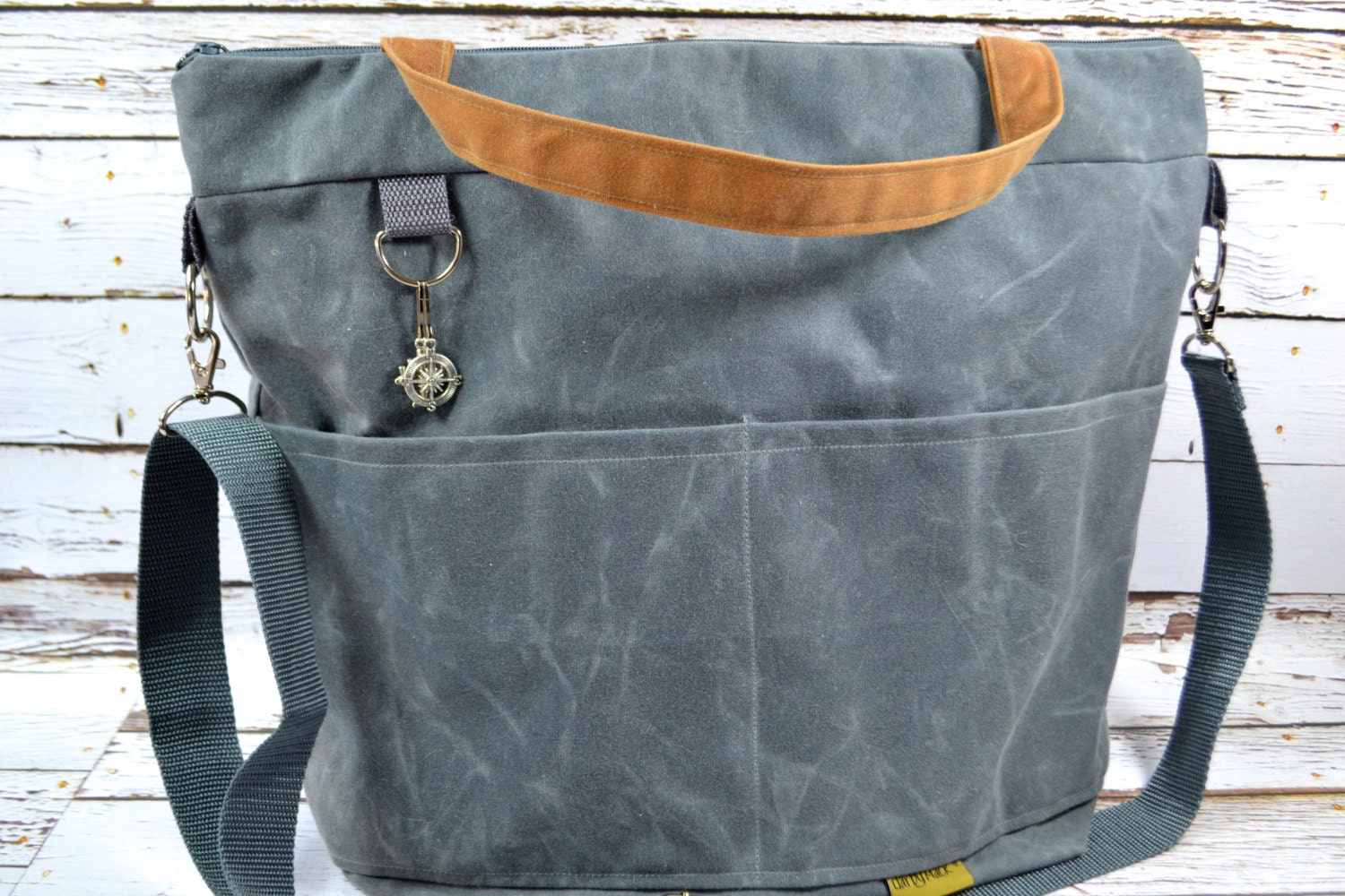 waxed canvas diaper bags by darby mack and made in the usa. Black Bedroom Furniture Sets. Home Design Ideas