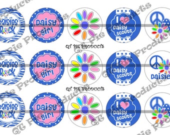 Instant Download Girl Scouts Daisy Inspired 1 inch Bottlecap Bottle Cap Images digital 4x6 collage sheets 300 DPI