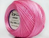 Pink Mimosa Size 10 Microfiber Crochet Thread - Ice 39148 - 50 gram 273 yards - For Bedspread, Needlepoint, Cross Stitch, Fiber Jewelry